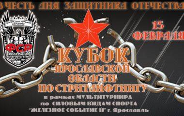 15 февраля 2020 – Открытый кубок Ярославской области, г. Ярославль
