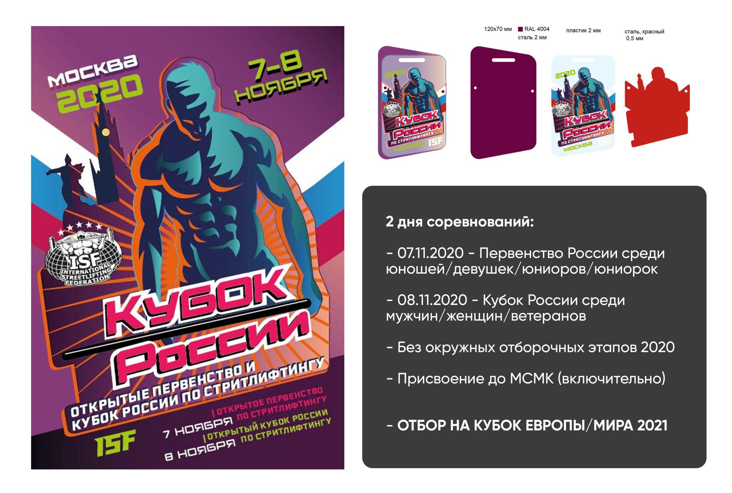 06-08 ноября 2020 – Открытый Кубок и Первенство России, г. Москва